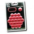 Комплект декоратичных колпачков Starleks из 20 шутк - ключ 19, красный хром