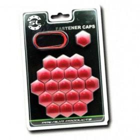 Комплект декоратичных колпачков Starleks из 20 шутк - ключ 17, красный хром