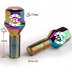 Болт колесный Starleks  М12Х1,25Х28 Титан