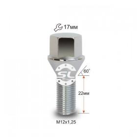 Болт колесный Starleks M12X1,25X23 Цинк Конус ключ 17 мм
