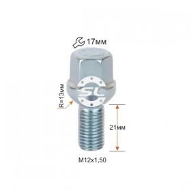 Болт колесный Starleks M12X1,50X21 Цинк Сфера с выступом ключ 17 мм