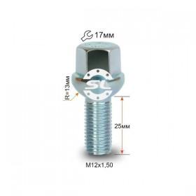 Болт колесный Starleks M12X1,50X25 Цинк Сфера с выступом ключ 17 мм