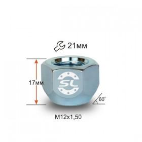 Гайка колесная Starleks M12x1,5 конус, высота 16мм, открытая, ключ 21мм, хром