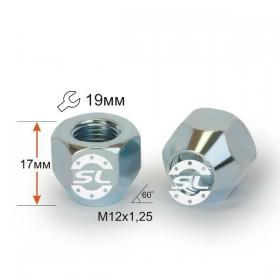 Гайка колесная Starleks M12X1,25 Цинк высота 17 мм Конус, откр., ключ 19мм