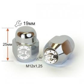 Гайка колесная Starleks M12x1,25 конус, высота 26мм, закрытая, ключ 19мм, хром