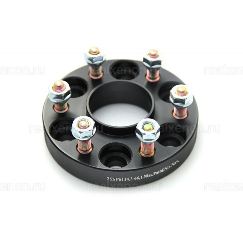 Дисковые проставки Starleks 25 мм 6х114.3-66.1 (шпилька М12x1.25) для Nissan
