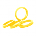 Центровочное кольцо Starleks OD:65.1 ID:58.1 LEMON YELLOW