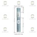 Шпилька резьбовая Starleks от КРЕПЕЖ КОЛЕС 12х1.5/12х1.5.L(1)=15mm. L(2)=60mm L(общая)=80mm. 12,9 Для ступиц c резьбой 12х1.5