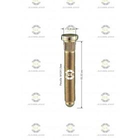 Шпилька забивная Starleks от КРЕПЕЖ КОЛЕС D=12,30mm.( 12х1.5 ).L=60mm. 12,9 для Хонда