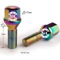 Болт колесный Starleks 174110 TI C17D28 Ti-Cr M14X1,50X28 Радужный Хром Конус с выступом ключ 17 мм
