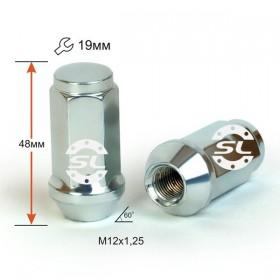 Гайка колесная Starleks M12X1,25 Цинк высота 48 мм Конус с выступ., закр., ключ 19мм