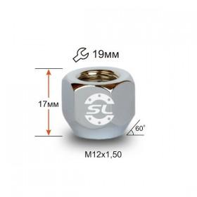 Гайка колесная Starleks M12x1,5 конус, высота 16мм, открытая, ключ 19мм, цинк