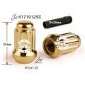 Гайка колесная Starleks 911144 GD M12X1,25 Золотой Хром высота 34 мм 12 луч., закр., спец.кл.