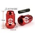 Гайка колесная Starleks 911144 RD M12X1,25 Красныйй Хром высота 34 мм 12 луч., закр., спец.кл.
