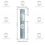 Шпилька резьбовая Starleks от КРЕПЕЖ КОЛЕС 14х1.5/14х1.5.L(1)=15mm. L(2)=60mm L(общая)=80mm. 12,9 Для ступиц c резьбой 14х1.5